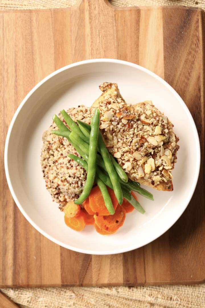 Almond Crusted Oven Baked Italian Chicken