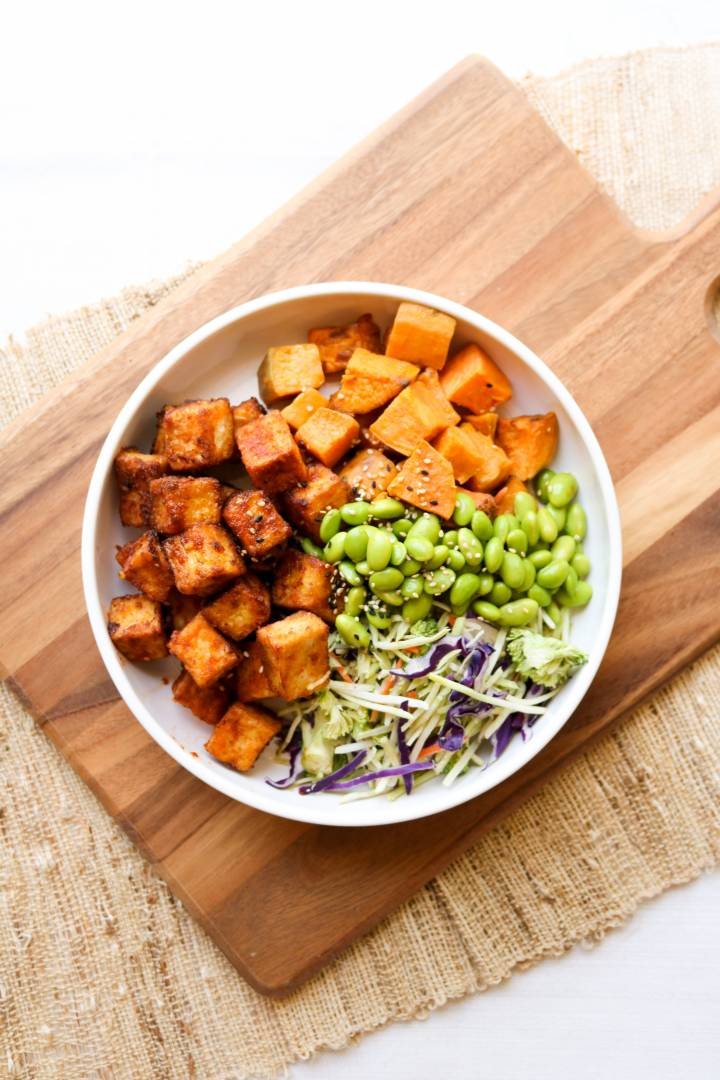 *NEW* Crispy Sweet Chili Garlic Tofu Buddha Bowl - Vegan & Vegetarian