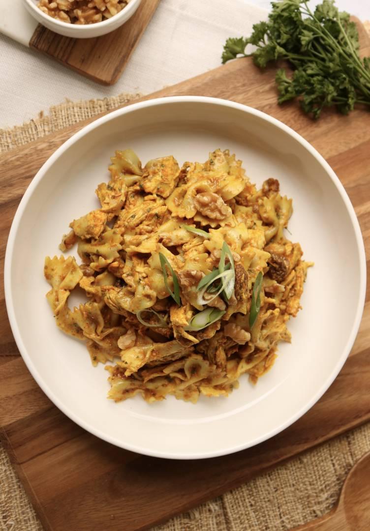 Creamy Curry Chicken Salad Bow-Tie Pasta